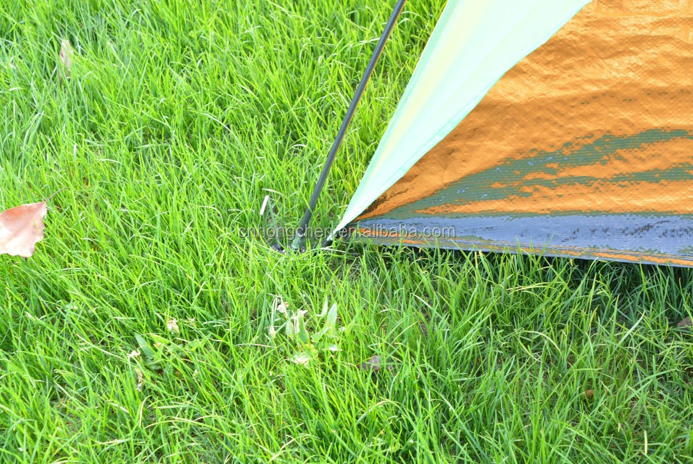 Single layer and fiberglass pole material beach tent fishing tent