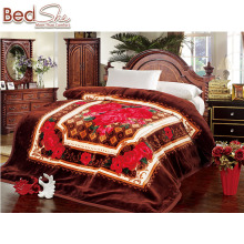 China supplier super soft embossed large size adult korea style raschel blanket