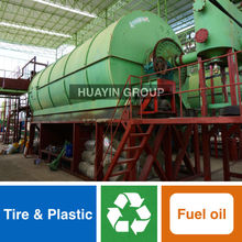 Huayin Brand Green Tech Waste Tire/Plastic/Rubber Pyrolysis Plant