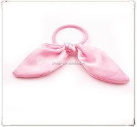 Fancy Cut Satin Rabbit Ear Elastic Hair Band Ponytail Holder Hair Accessories for Kids