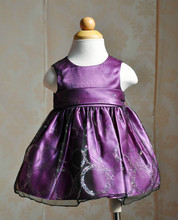 Latest design violet baby girls forck sleeveless party dress,girls prom dress for birthday party, in stock fast delivery dress
