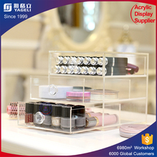 Lucite countertop clear cube acrylic storage 3 drawer acrylic makeup organizer