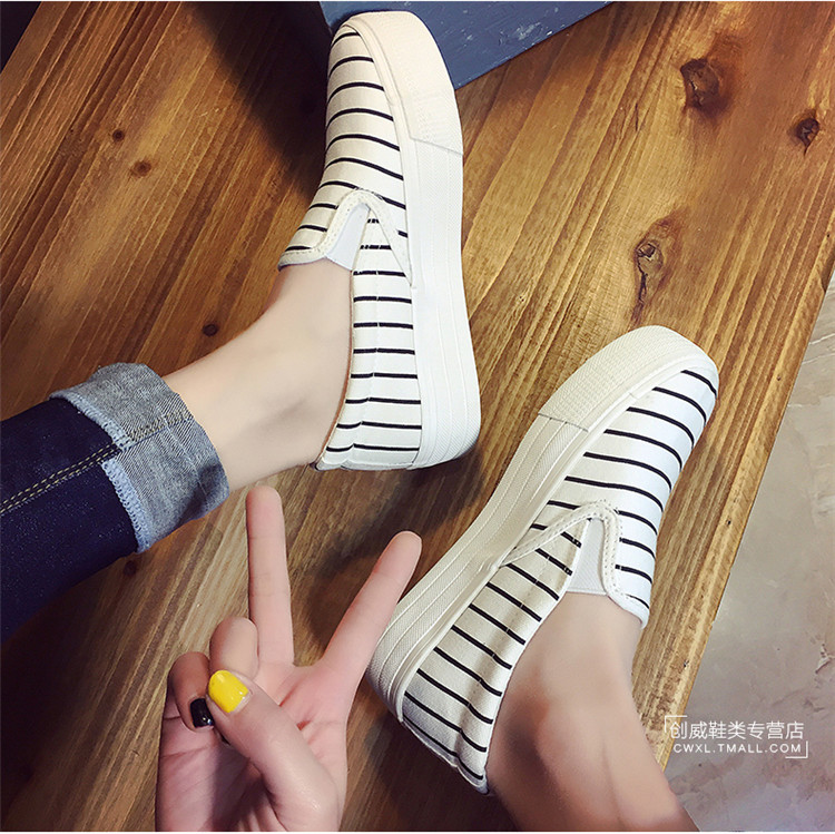 Easy Buy Stock Slip-On High Quality Canvas Shoes