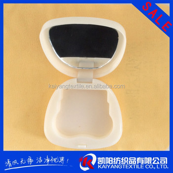 cartoon image contact lens case with mirror