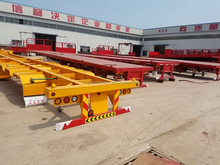 Hongdong brand 40 Tonnes 3 Axles Container Truck Trailer Chassis