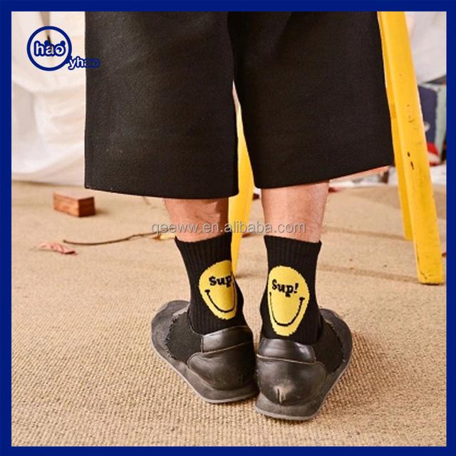 HOT korea socks fashion smile face pattern socks school ankle tube happy socks