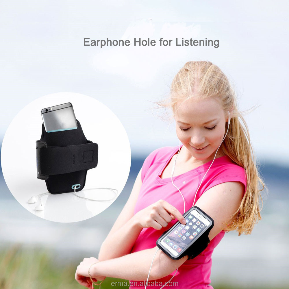 Exercise Arm band Case Sports Mobile Phone Arm Pouch Armband for Samsung S5 i9600
