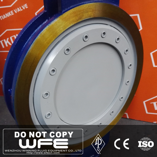 Cast Iron Bare Shaft Ptfe Lined Stainless Steel Butterfly Valve