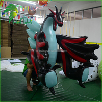 Hongyi Newest Wonderful Inflatable Dragon With Wings , Customized Giant Inflatable Dragon Toys Animal For Sale