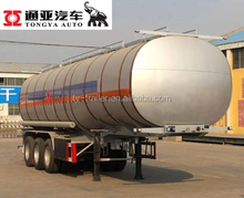 Tri Axles Road Cleaning and Garden Green Steel Water Liquid Tank Transport Semi Trailer
