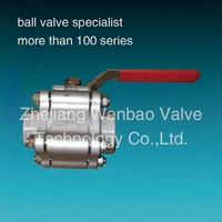 New Design Low prices 3-pc high pressure ball valve ,cast body,threaded ends,3000psi
