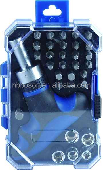 32pcs ratchet screwdriver & bits set/Promotional T handle ratchet screwdriver set