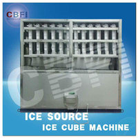 5000kg/day commercial used ice cube machine for coffee shop and supermarket with automatic packing system