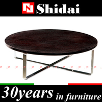 Modern elliptic coffee table / stainless steel coffee table design / stainless steel base coffee tables TA18A