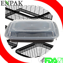 High Quality 16oz Rectangular Food Grade Disposable Stackable Meal Prep Container