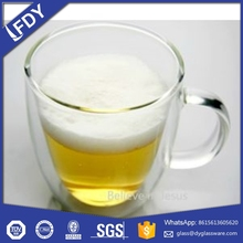 Custom Glassware Manufacturer advertising promotional double wall glass cup