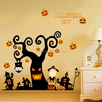 Home Decorative and Removable halloween wall stickers bedroom home decor cartoon wall sticker