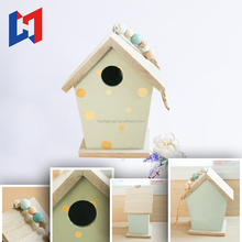 2017 new product cheap wooden decorative bird house