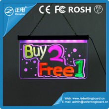 2015 high quality 25*40 advertising led writing panel led message board with free accessories