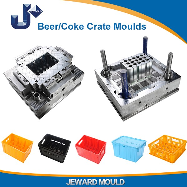 Cheap plastic injection beer crate moulds / coke bottle crate mold supplied in Huangyan mold making city
