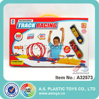 kids racing play games electronic high speed stunt track car toy with top quality