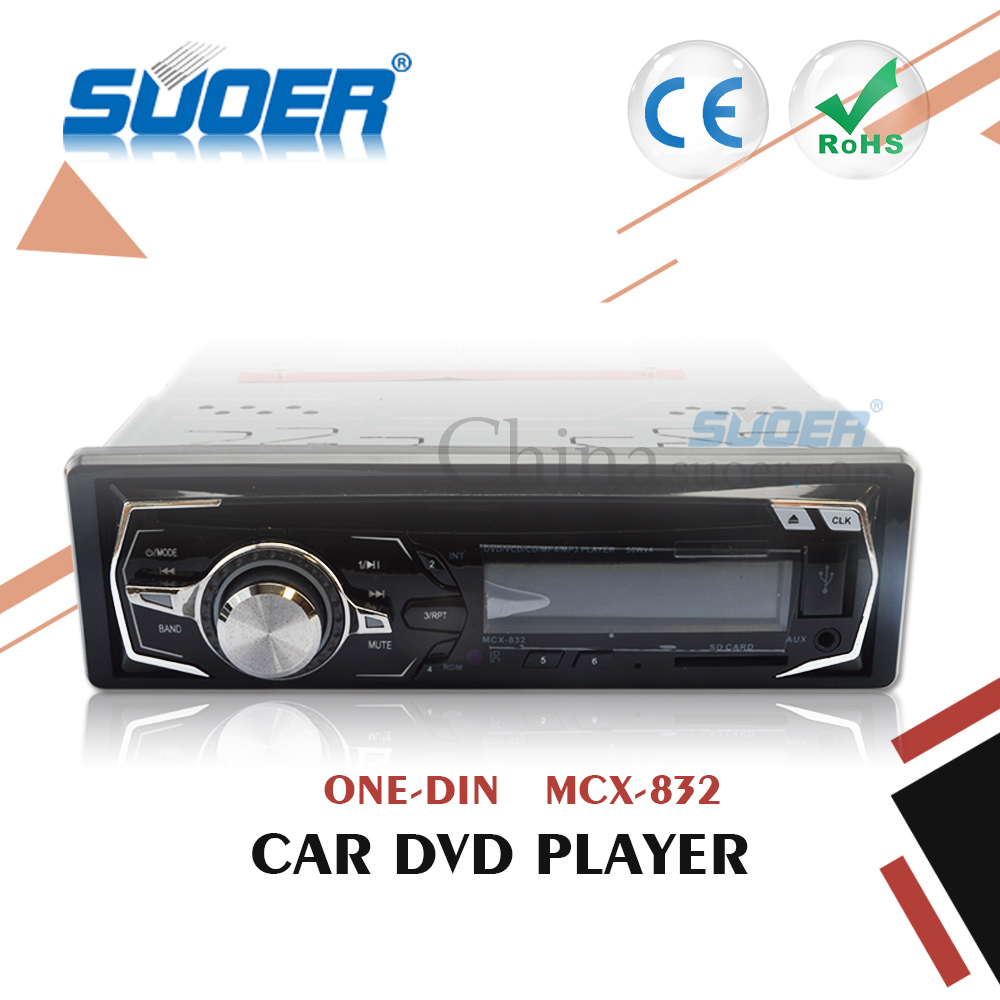 Suoer Factory Price Single Din Car DVD Player Fixed Panel Car DVD/VCD/CD/MP3/MP4 Player