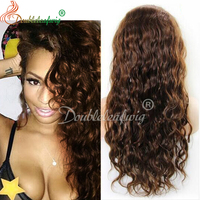 100% human front lace wig 130%density 4# natural hair line with baby hair braided hair lace wigs best selling