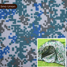 Dacron fabric polyester canvas roof material blue camouflage fabric