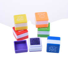 New products plastic self inking stamps set for teachers