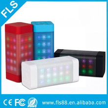 Portable Bluetooth Speaker 2*3W Strong Drive Passive Speakers with LED Dancing Light