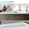 Guangdong Snowfall Quartz Stone Kitchen Benchtop