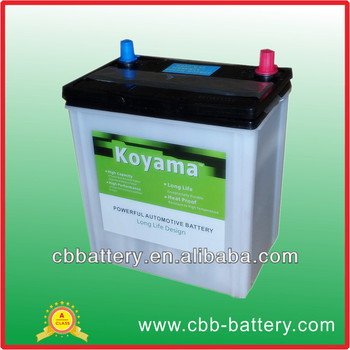 dry charge battery manufacture China Guangzhou NS40ZL dry charge lead acid car battery