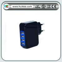 USB charger with 4 ports with CE certification EU US UK plug selectable
