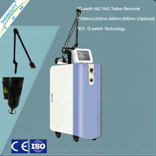 Medical 4 wavelengths Nd Yag Laser 1064 532 585 650 tattoo removal