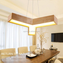 Triangle nature wooden european LED lighting wood pendant lamp for hourse