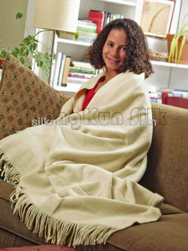 100% silk/bamboo throw blanket or mixed
