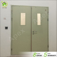 UL rated Galvanized steel powder coated fireproof door with/without window