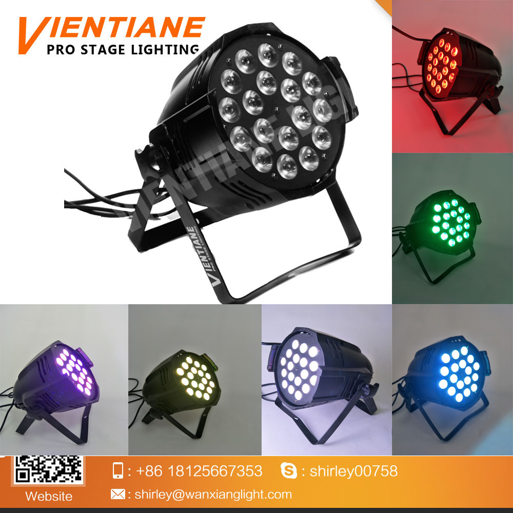 High brightness 18pcs 10w RGBWA+UV 6 IN 1 LED par can led disco par wedding party light with factory price