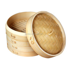 Hot sale round food bamboo steamer Chinese bamboo dim sum steamer