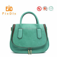 CSS1460-001 2015 Vintage new arrival Green Yak leather bag for women