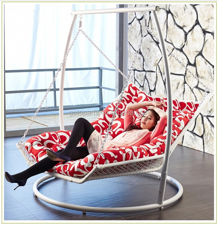 2015 NEW Product !!Romantic 150cm garden swing bed for double Seats Patio swing bed