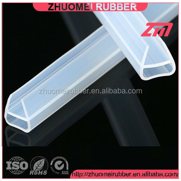 Extruded Silicone Rubber Glass Trim Seal Profile Buy