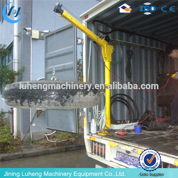 Electric Portable Pick up truck Mini Crane/used light truck crane for sale - LH