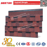 Asian Red Double Layer Roofing Materials Laminated Asphalt Shingles