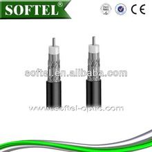 SOFTEL rg6 quad shield coaxial cable,coaxial cable types for cable tv/quad shield cable,75 ohm cable/belden rg-6 coaxial cable