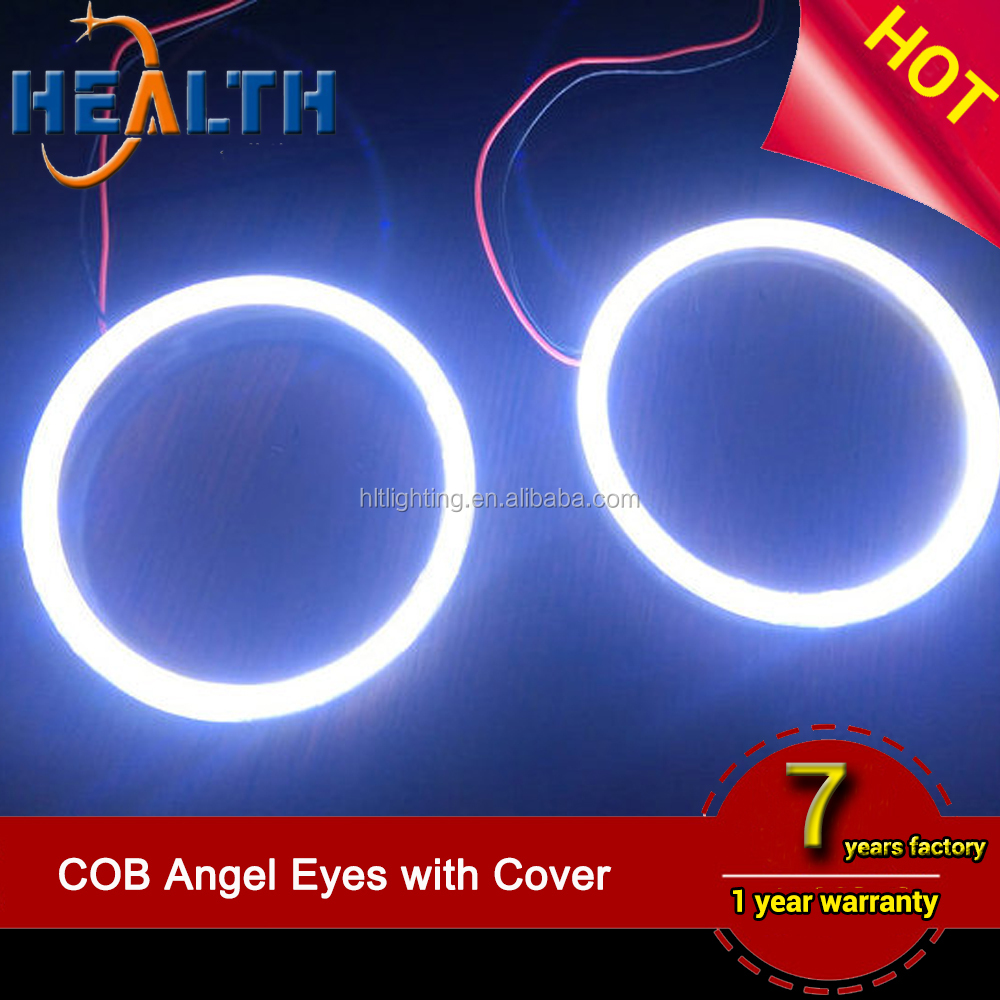 100MM HALO RINGS LED ANGEL EYES SMD LED XENON WHITE 7000K DAYTIEM RUNNING LIGHT