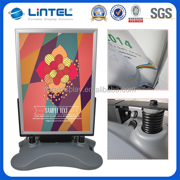 Cheaper high quality LED clip board poster stand with better service