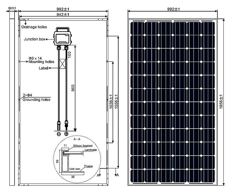 320 Watt Solar Panel Monocrystalline 320w Solar Panel With