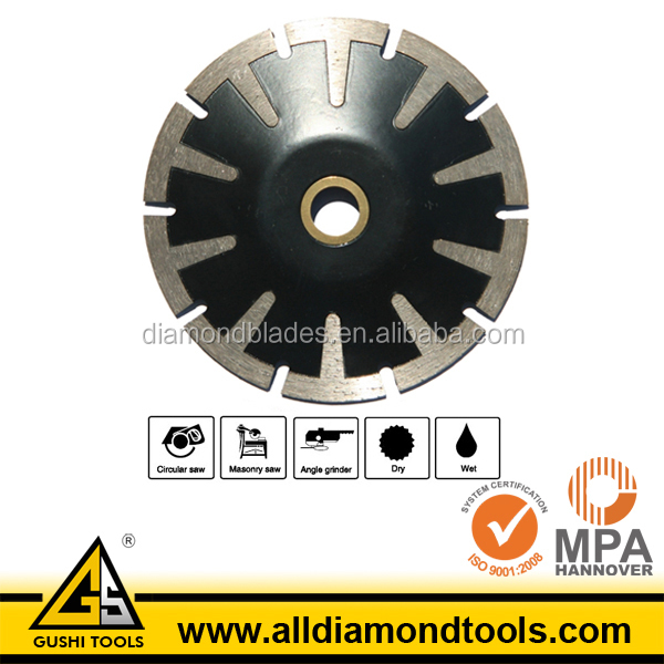 T Segment Concave Curved Cutting Diamond Saw Blade for Granite