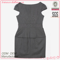 Hot selling fashion ladies cap sleeve imported dresses